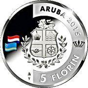 5 Florin - Willem-Alexander (200 ans du Royaume des Pays-Bas) -  avers