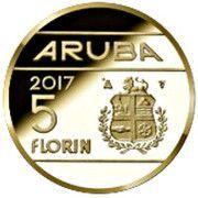 5 Florin (60ème anniversaire de la Croix-Rouge d'Aruba) – revers