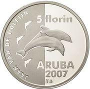 5 Florin - Beatrix (Année du dauphin) – revers
