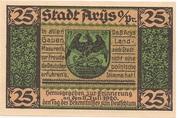 25 Pfennig (Arys) – avers