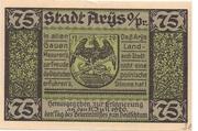 75 Pfennig (Arys) – avers