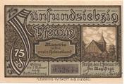 75 Pfennig (Arys) – revers