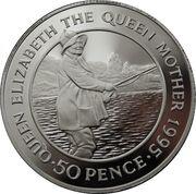 50 Pence - Elizabeth II (3ème effigie ; Reine mère) – revers