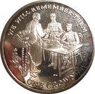 1 Crown - Elizabeth II (Signature de l'Armistice) – revers