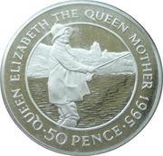 50 Pence Elizabeth II (The Queen Mother) 1995 Piedfort – revers