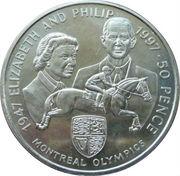 50 Pence Elizabeth II(Montreal Olympics) – revers