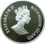 50 Pence - Elizabeth II (Golden Wedding-Montreal Olympics) – avers