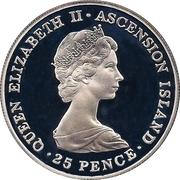 25 pence Elizabeth II (2eme effigie - Mariage royal) - argent 925‰ – avers