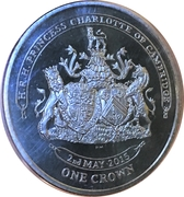 1 Crown - Elizabeth II (Princesse Charlotte de Cambridge) – revers