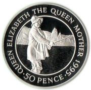 50 pence - Elizabeth II (3eme effigie - reine mère) – revers