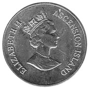 50 pence - Elizabeth II (3ème effigie - 70ème anniversaire d'Elizabeth II) – avers