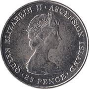 25 pence Elizabeth II (2eme effigie - Mariage royal) – avers