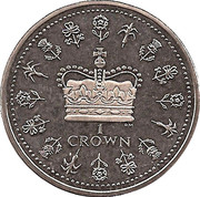 1 Crown - Elizabeth II – revers