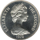 1 Crown - Elizabeth II (2eme effigie; couronnement) – avers