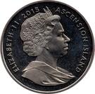 1 Crown - Elizabeth II (800ème anniversaire de la signature de la Magna Carta) – avers