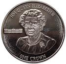 1 Crown-Elizabeth II ( 90th Birthday of Her Majesty Queen Elizabeth II) – revers