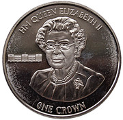 1 Crown-Elizabeth II ( 90th Birthday of Her Majesty Queen Elizabeth II) – revers
