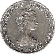 50 pence - Elizabeth II (Visite royale) – avers