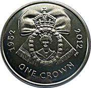 1 Crown - Elizabeth II (Diamond Jubilee-Royal Family order of Elizabeth II) – revers