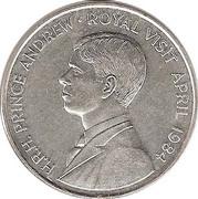 50 pence - Elizabeth II (Visite royale) – revers
