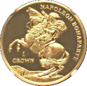 1 CROWN 2015 - Napoleon Bonaparte (Gold) – revers