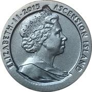 1 Crown - Elizabeth II (175th Anniversary Tu'penny Blue) – avers