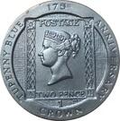1 Crown - Elizabeth II (175th Anniversary Tu'penny Blue) – revers
