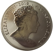 1 Crown - Elizabeth II (First man on the moon) (Titanium) – avers
