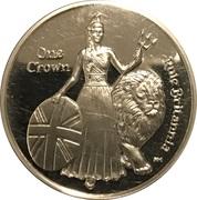 1 Crown - Elizabeth II (275th Anniversary Composition Rule Britannia) – revers