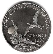 50 pence - Elizabeth II (3eme effigie - Frégate) – revers
