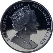 1 crown - Elizabeth II (Sapphire Coronation) – avers