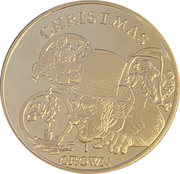 Ascension Island Christmas 1 Crown  150th Anniversary of Charles Dickens' death – revers
