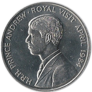 50 pence Elizabeth II (2e effigie, argent) - Visite royale – revers
