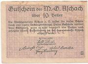 10 Heller ( Aschach a. d. Donau) – revers