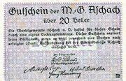 20 Heller (Aschach a. d. Donau; Violet issue) -  revers