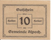 10 Heller (Aspach) -  revers