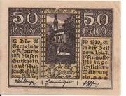 50 Heller (Aspach) -  avers