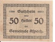 50 Heller (Aspach) -  revers