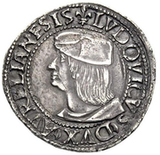 1 Testone - Ludovico XII d'Orléans – avers