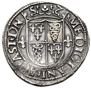1 Testone - Ludovico XII d'Orléans – revers