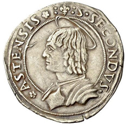 ½ Testone - Ludovico XII d'Orléans – revers