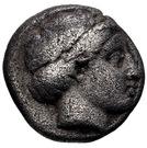 Drachm (Atarnios) – avers