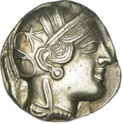 Tétradrachme d'Athènes – avers