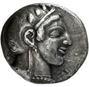 Dekadrachm (Athens) – avers