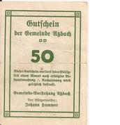 50 Heller (Atzbach) – revers