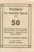 50 Heller (Atzbach) -  revers