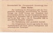 10 Heller (Atzenbrugg) -  revers