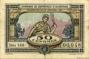 50 centimes - Chambre de Commerce d'Aubenas [07] – avers