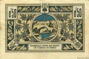 50 centimes - Chambre de Commerce d'Aubenas [07] – revers