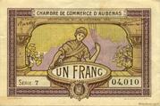 1 franc - Chambre de Commerce d'Aubenas [07] – avers